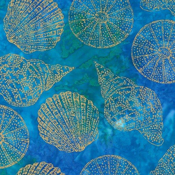 Seashells Batik - Aquamarine