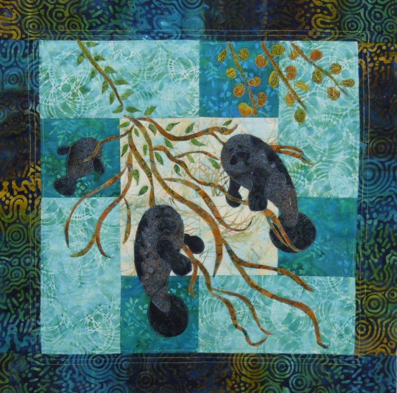 Manatee Mangrove Pattern