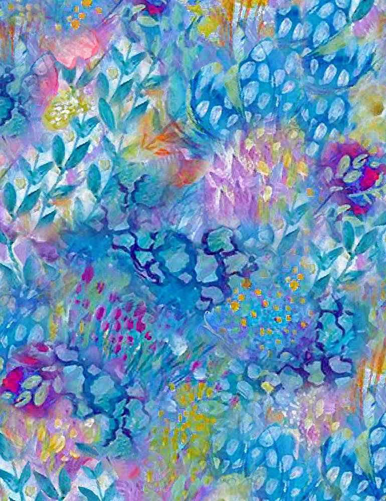 Painted Floral Texture