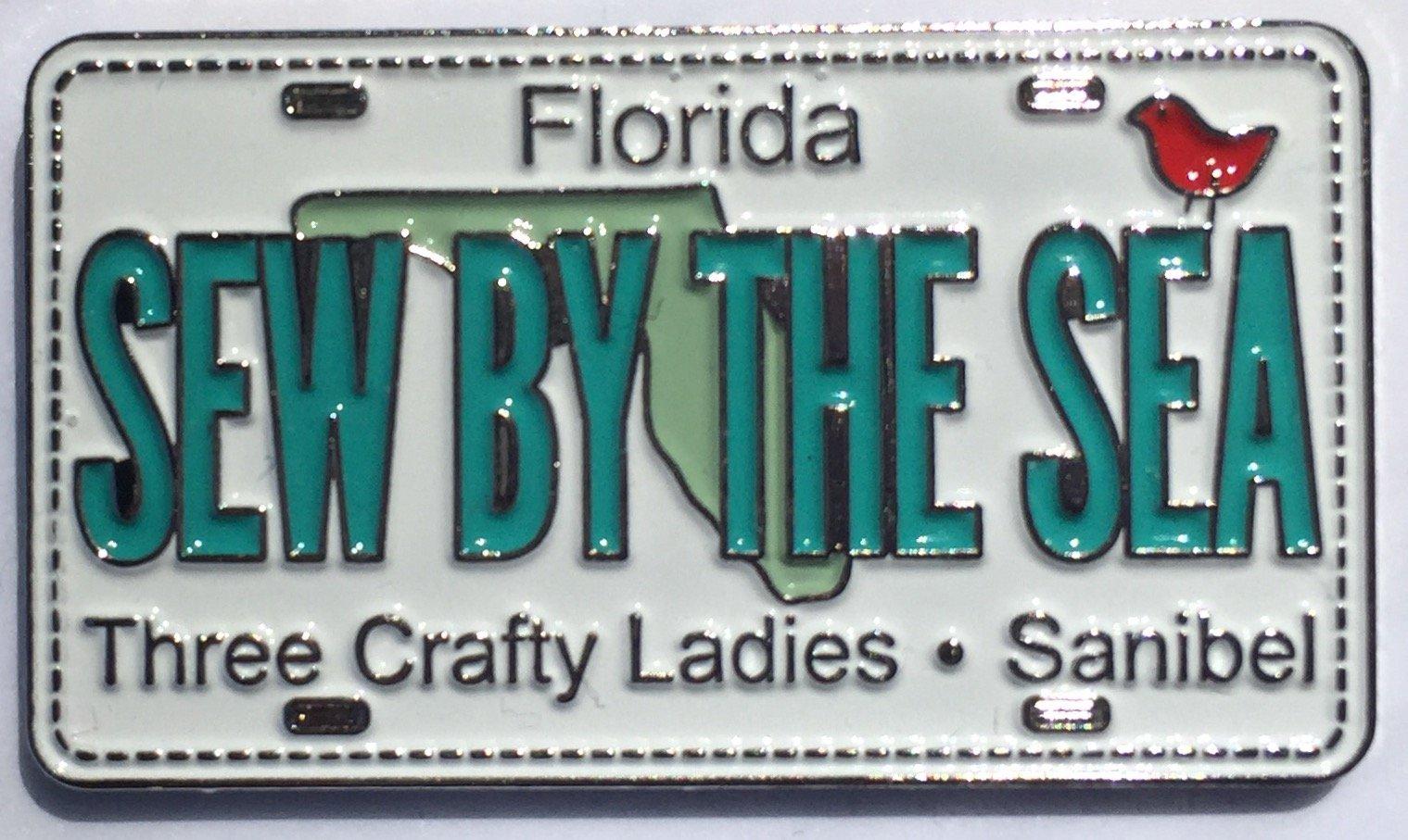 Enamel License Plate Pin