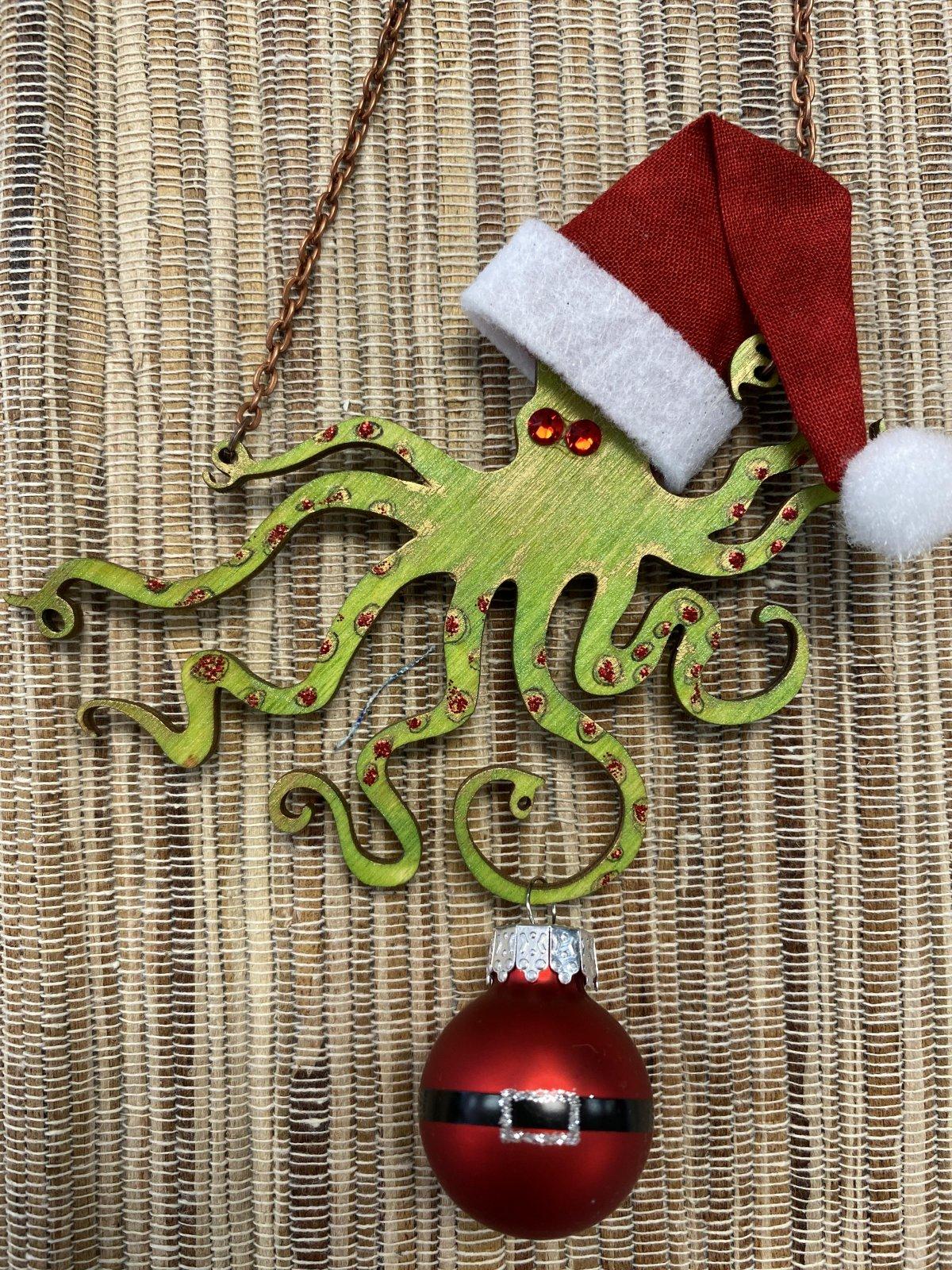 Santa Octopus - Green