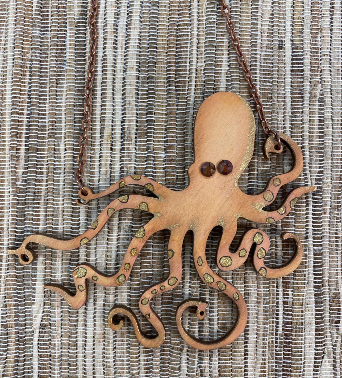 Orange & Gold Octopus
