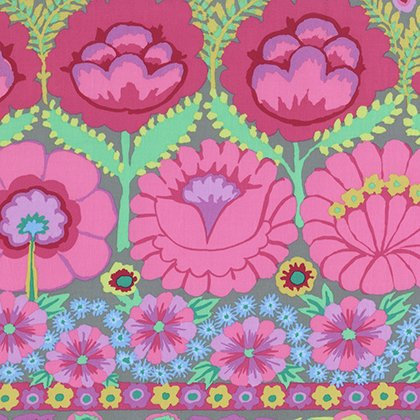 Embroidered Flowers - Pink