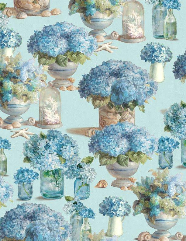 Floral Bliss - Aqua