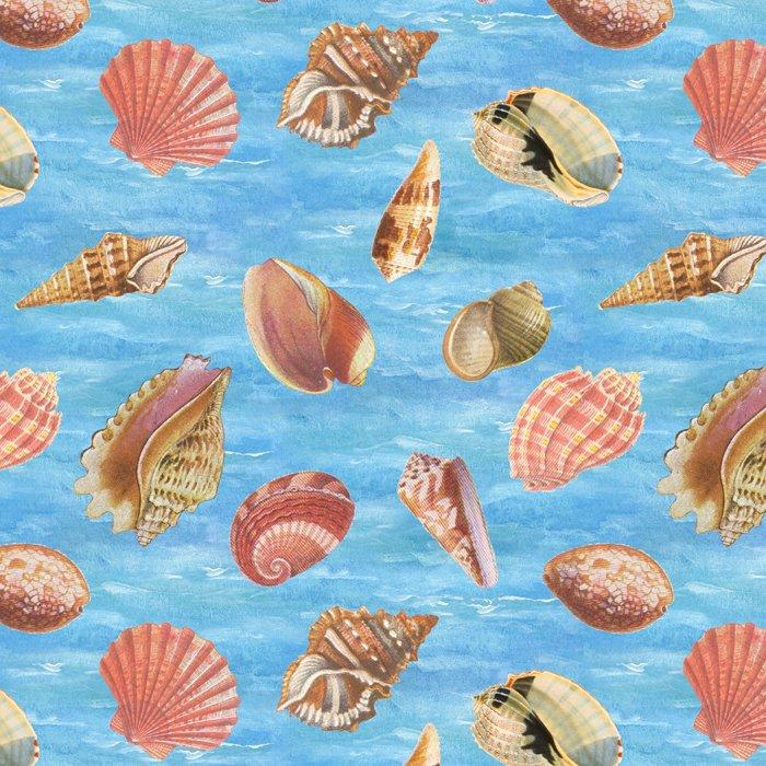 Seaside Shells - Blue