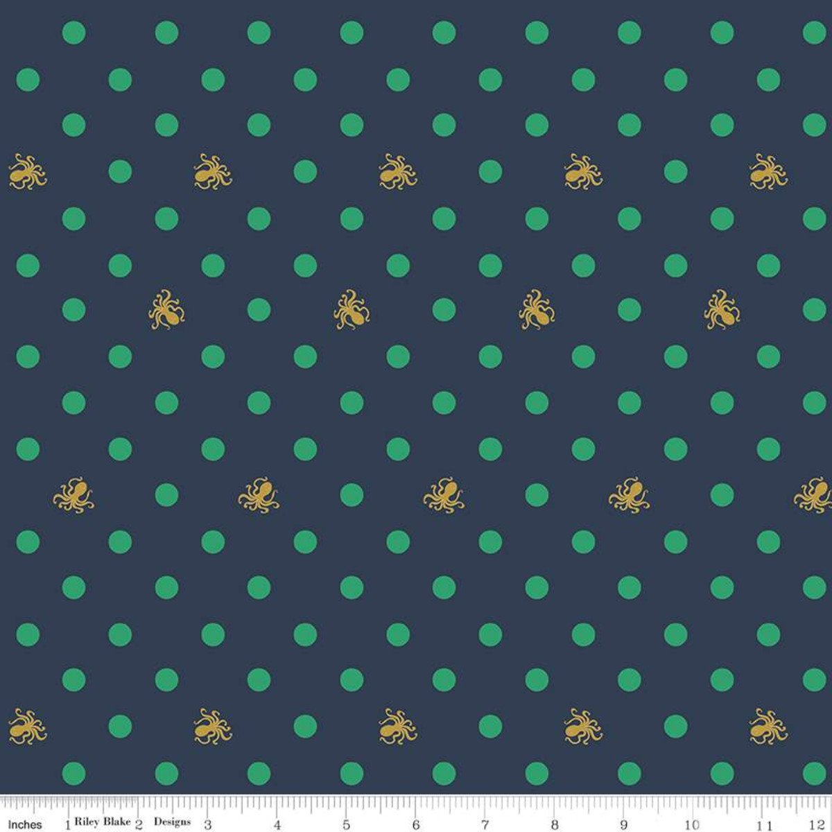 Octo Dots - Navy