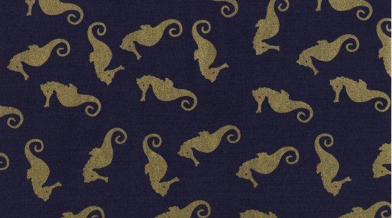 Seahorses - Gold Metallic