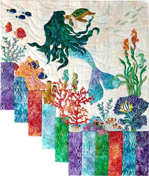 Mermaid Kisses Quilt Kit