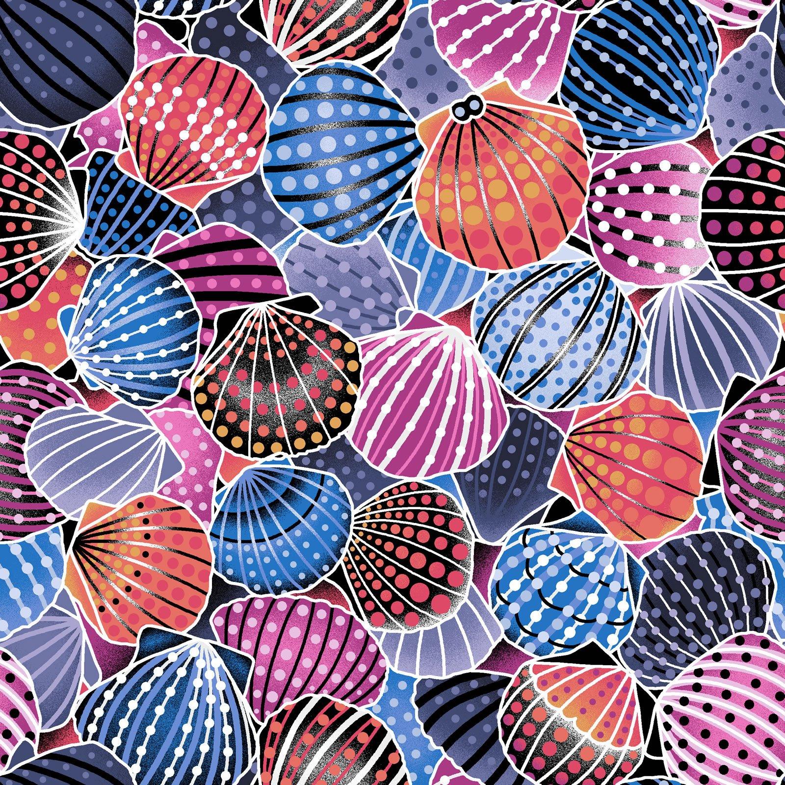 Scallop Shells - Blue