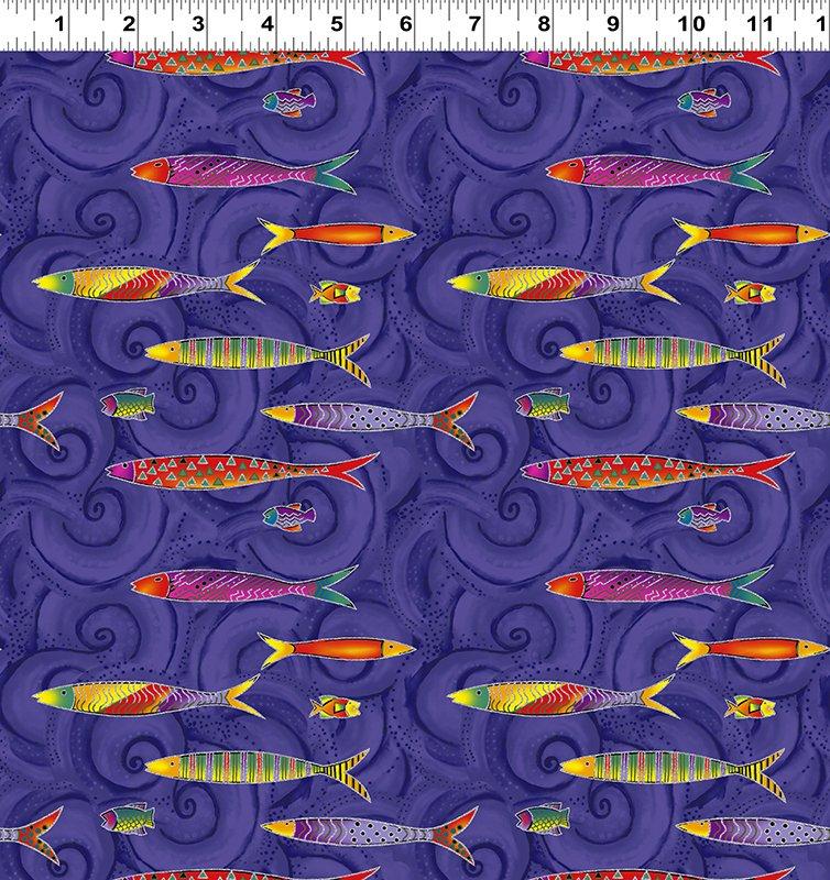 Tossed Fish - Purple