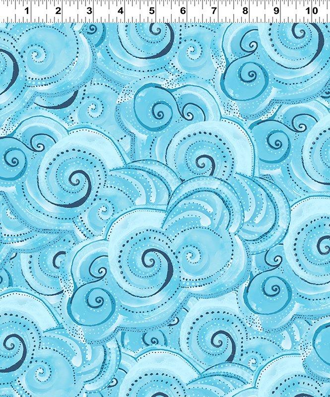 Swirls - Aqua