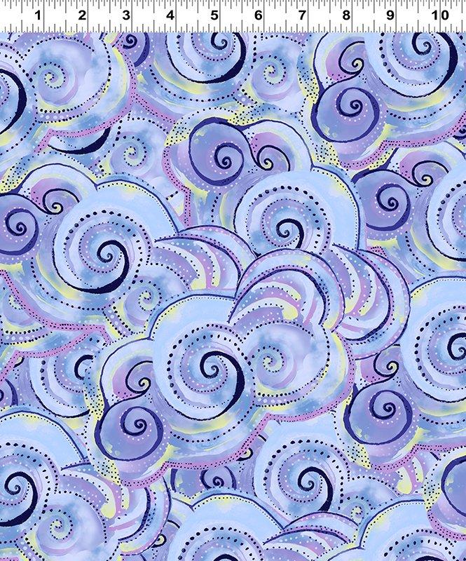 Swirls - Periwinkle