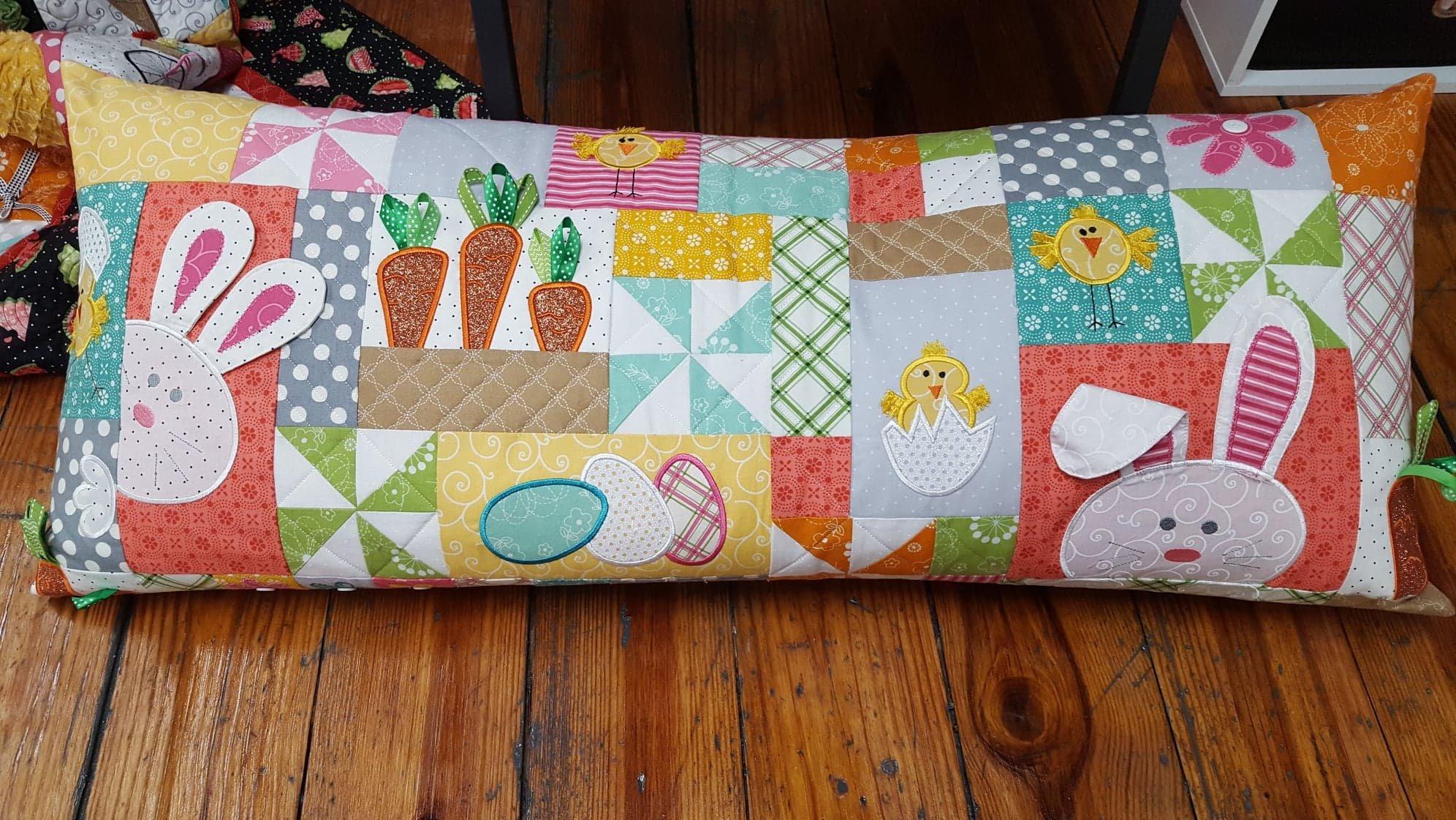 Hoppy Easter Bench Pillow