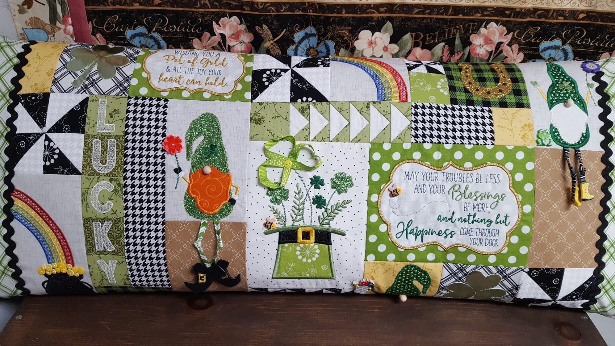 Luck O' the Gnome Bench Pillow