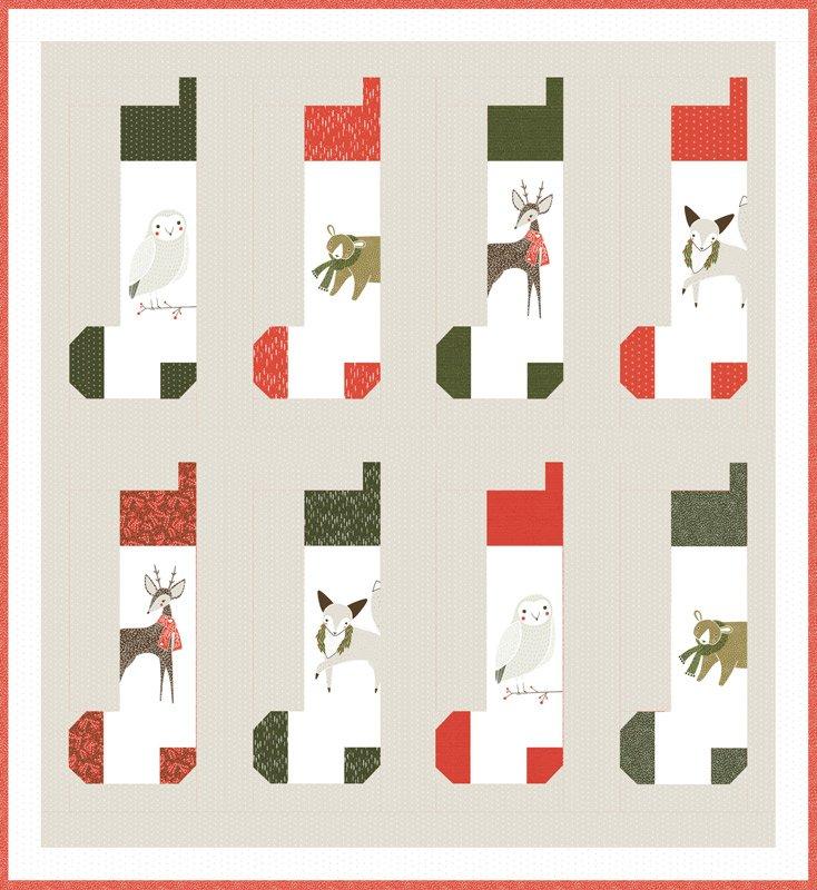 Merriment Stocking Quilt Top Kit