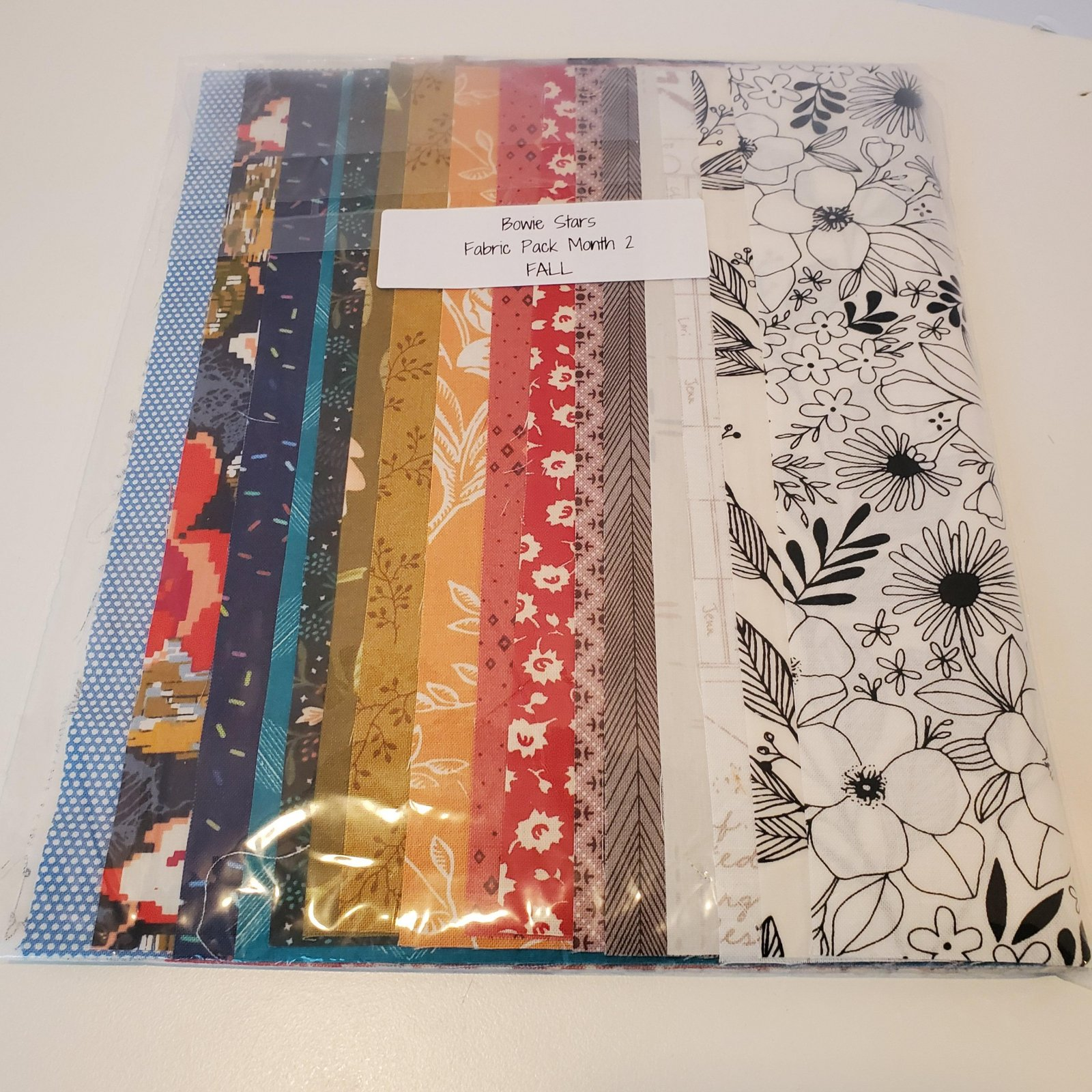 Bowie Stars Fabric Pack Month 2 - Fall
