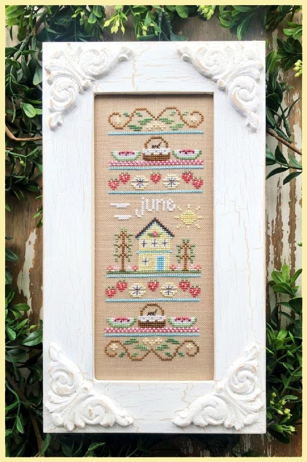 June Sampler of the Month Cross Stitch Pattern by Country Cottage Needleworks