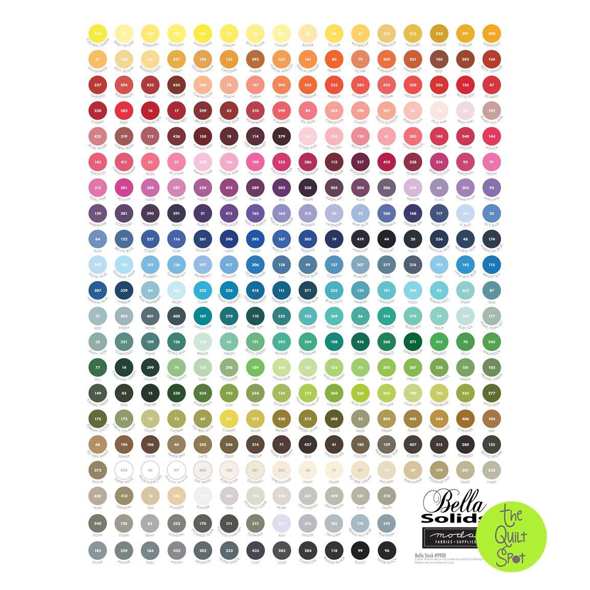 My Favorite Color Is Moda - Bella Solids Color Panel