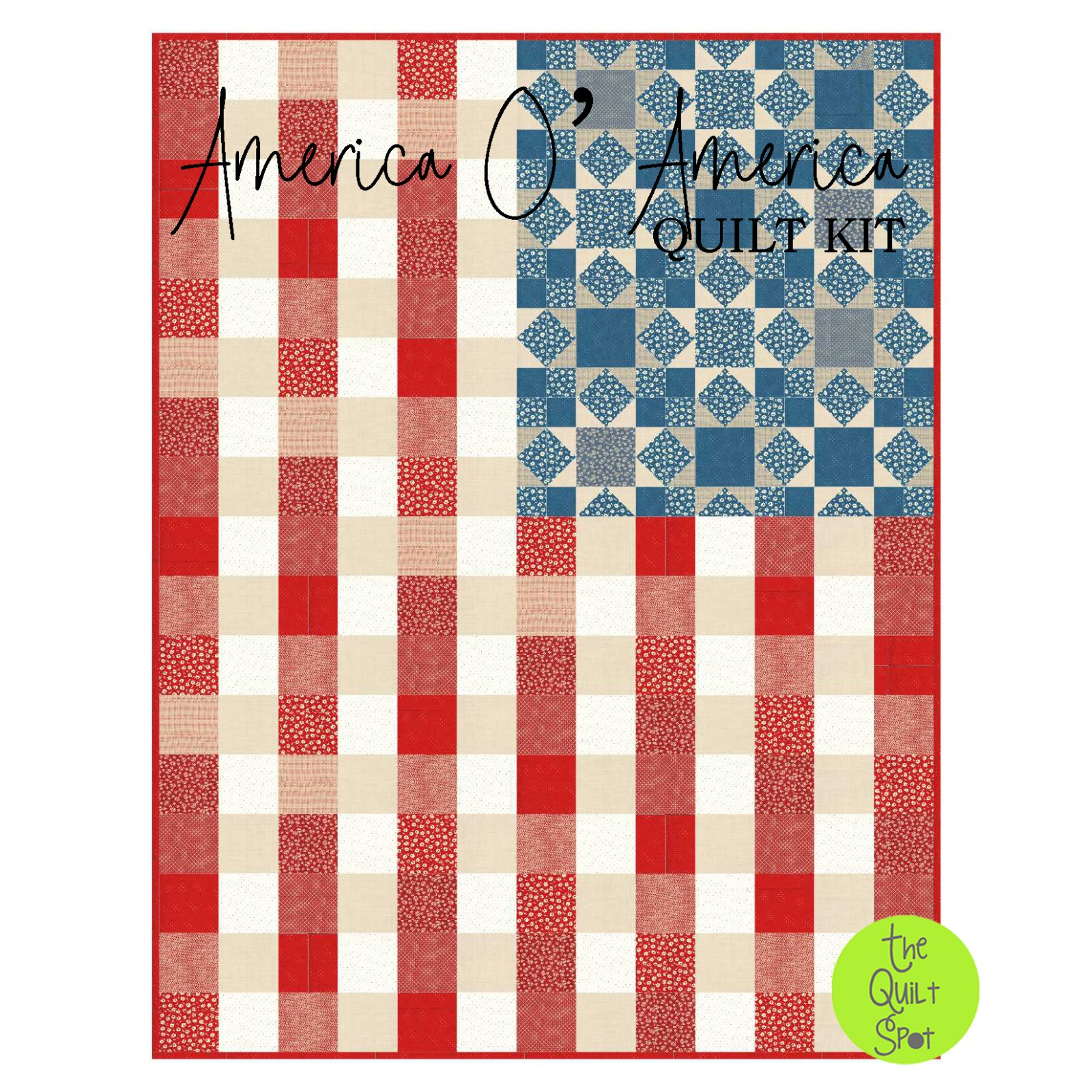 America O' America Quilt Kit featuring American Jane Fabric