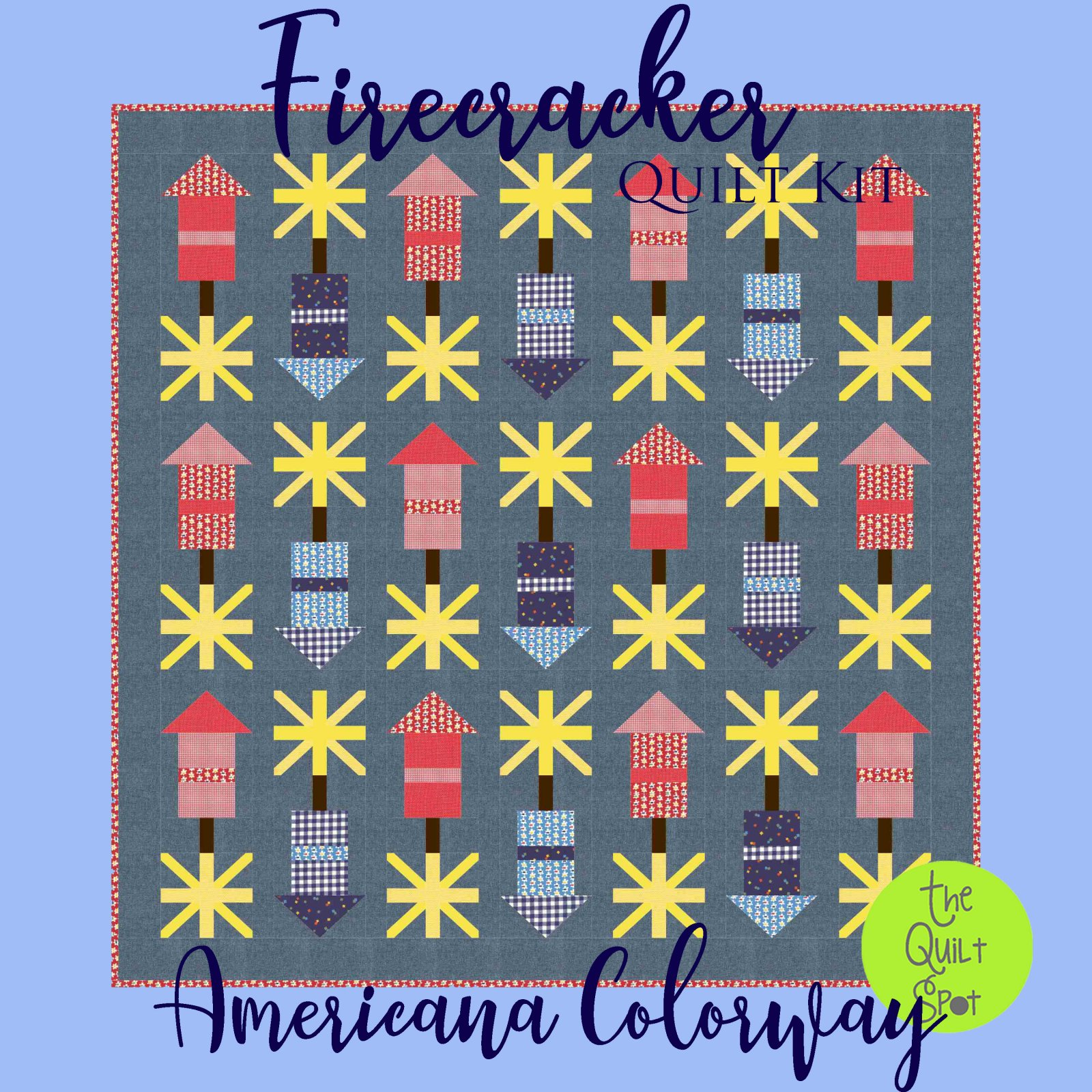 Firecracker Quilt Kit - Americana Colorway - Fabric Only