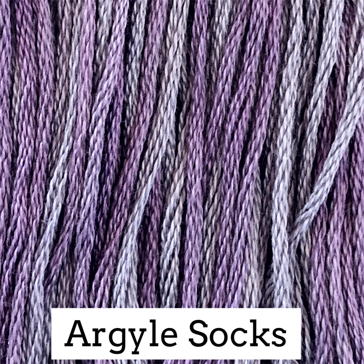 Argyle Socks Classic Colorworks 6 Strand Hand-Dyed Embroidery Floss