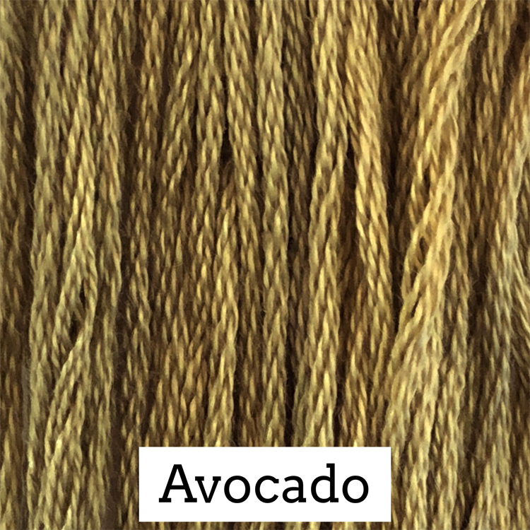 Avocado Classic Colorworks 6 Strand Hand-Dyed Embroidery Floss