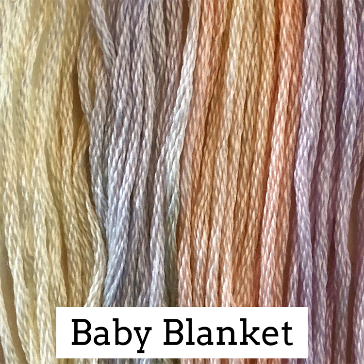 Baby Blanket Classic Colorworks 6 Strand Hand-Dyed Embroidery Floss