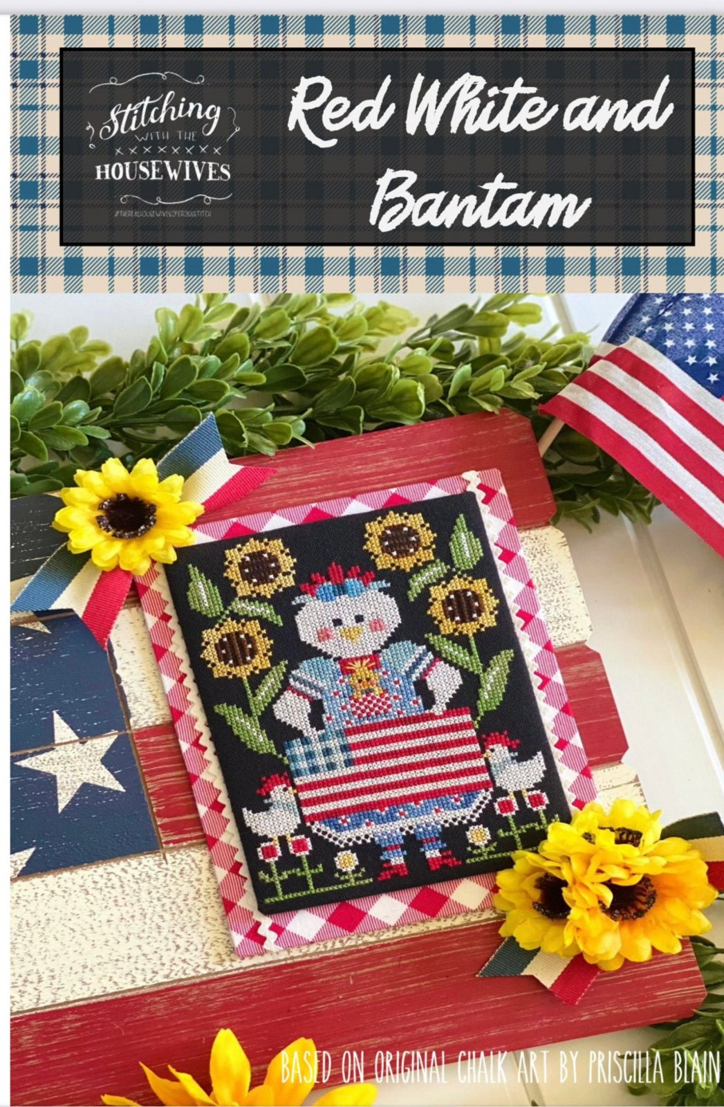 Red White and Bantam Cross Stitch Pattern Stitching with the Housewives