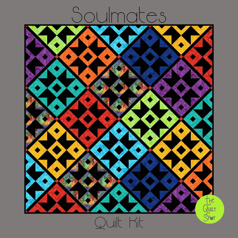 Soulmates Quilt Kit featuring Island Batiks