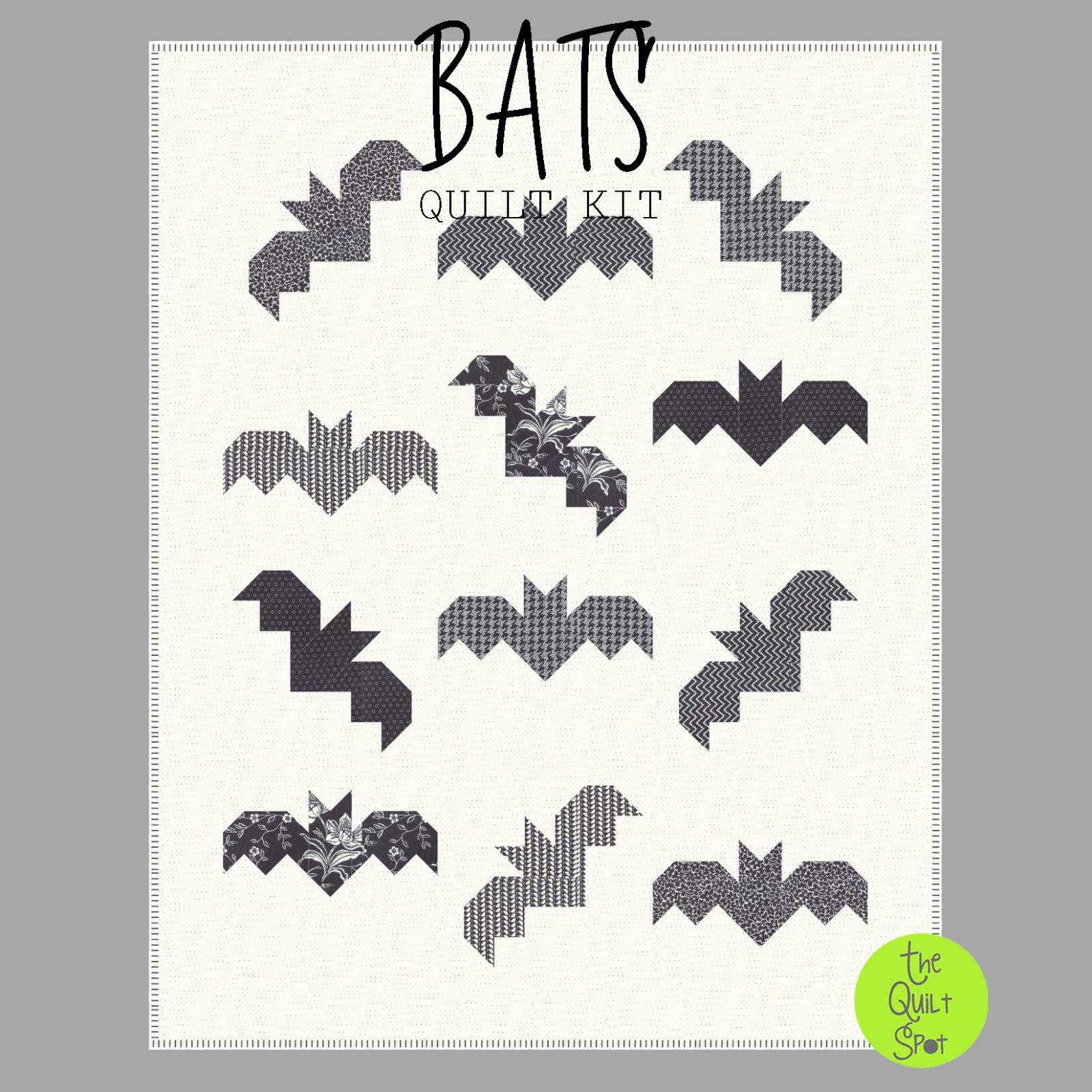 Bats Quilt Top Kit