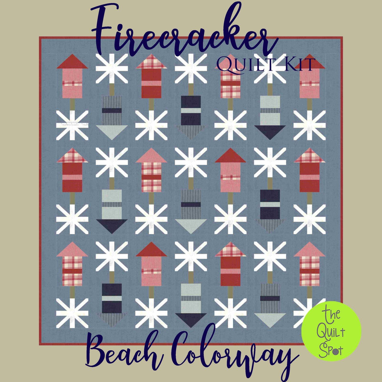 Firecracker Quilt Kit - Beach Colorway - Fabric Only