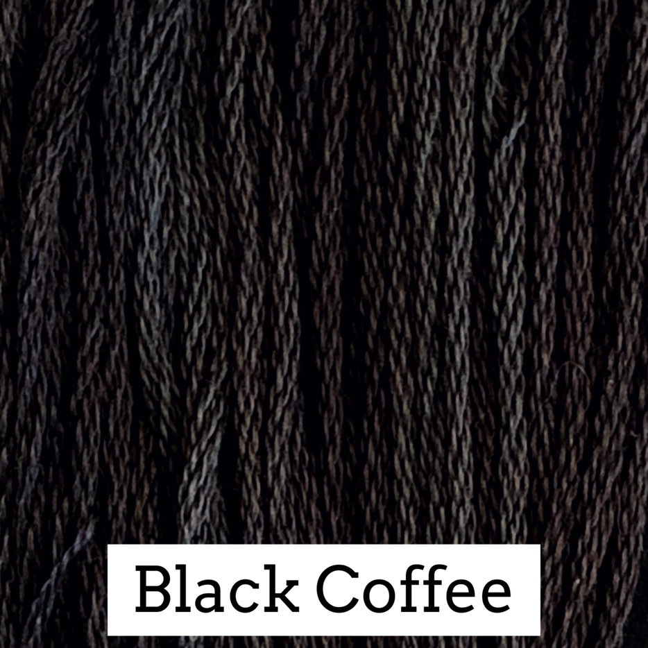 Black Coffee Classic Colorworks 6 Strand Hand-Dyed Embroidery Floss