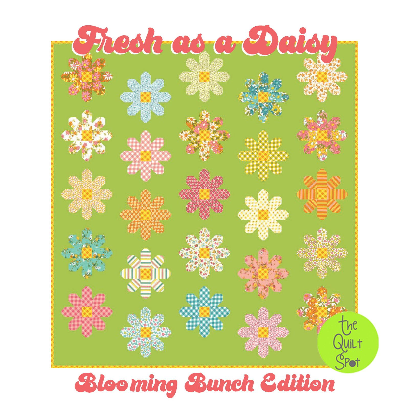 Fresh As A Daisy Quilt Kit - Blooming Bunch Edition