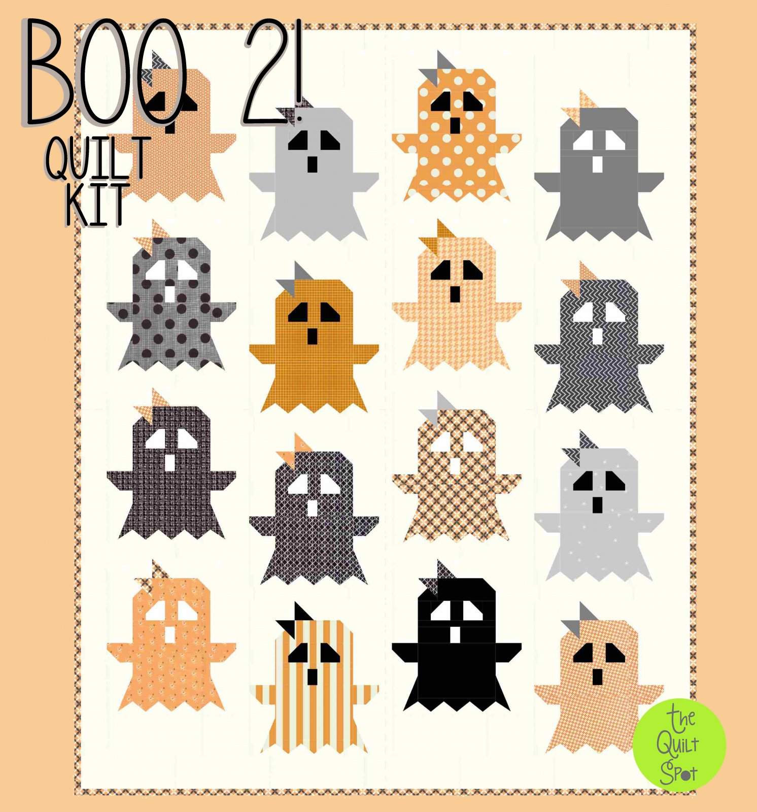 Boo 2! Quilt Top Kit