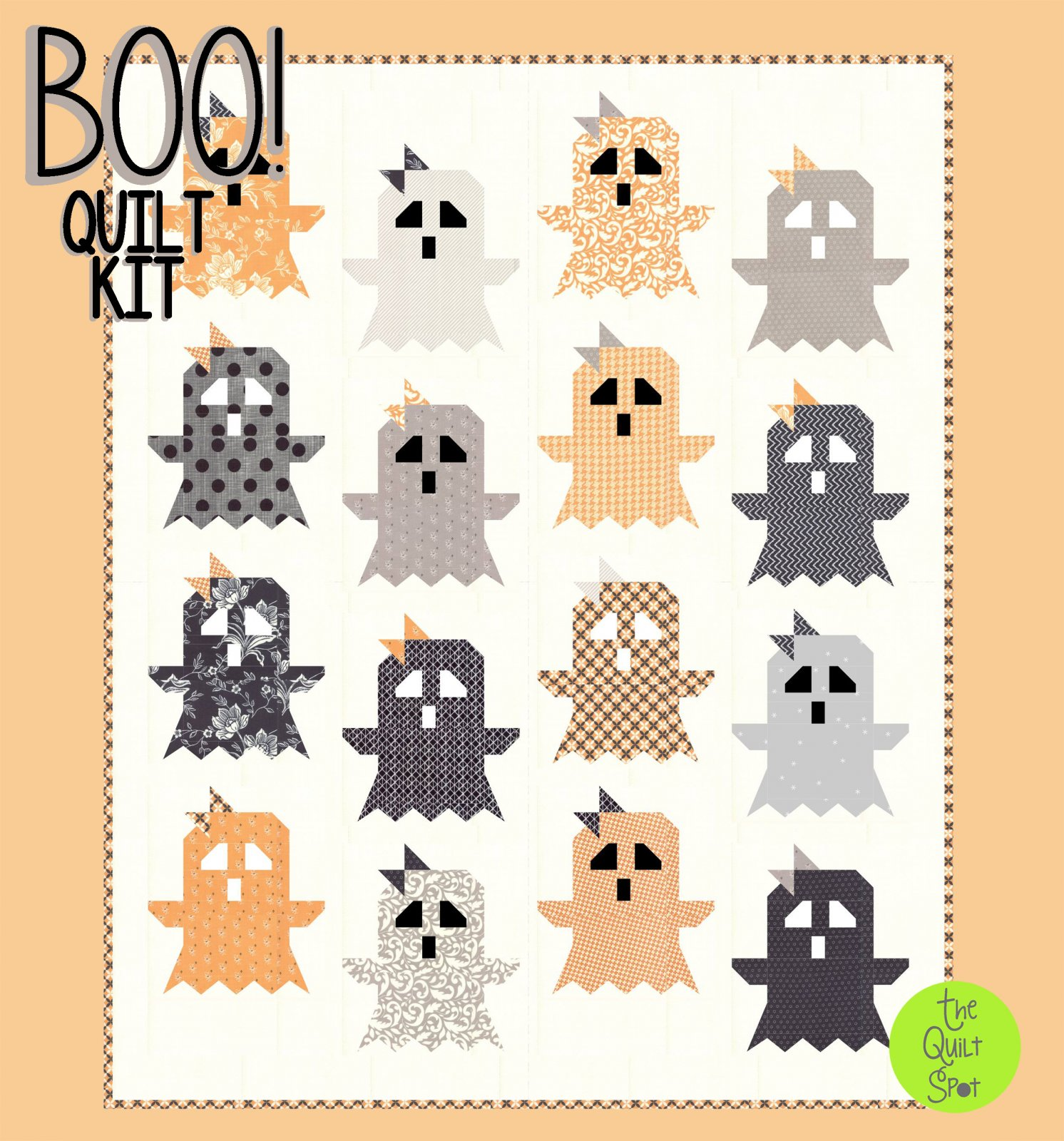 Boo! Quilt Top Kit