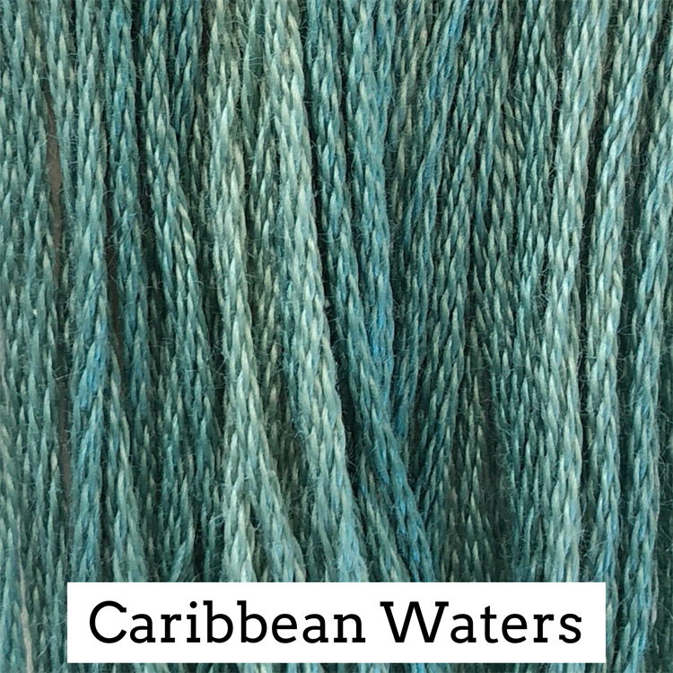 Caribbean Waters Classic Colorworks 6 Strand Hand-Dyed Embroidery Floss