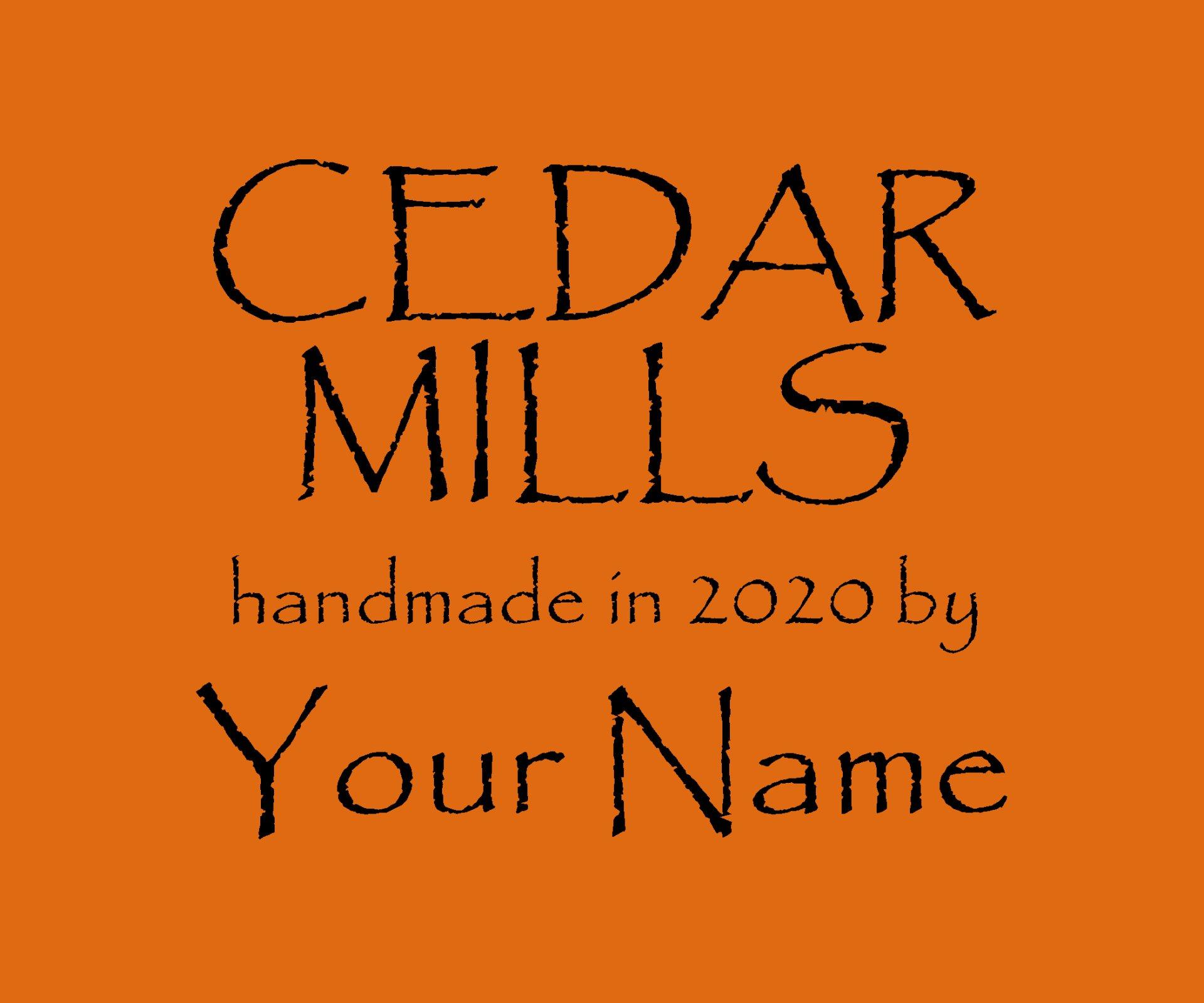 Cedar Mills Custom Quilt Label