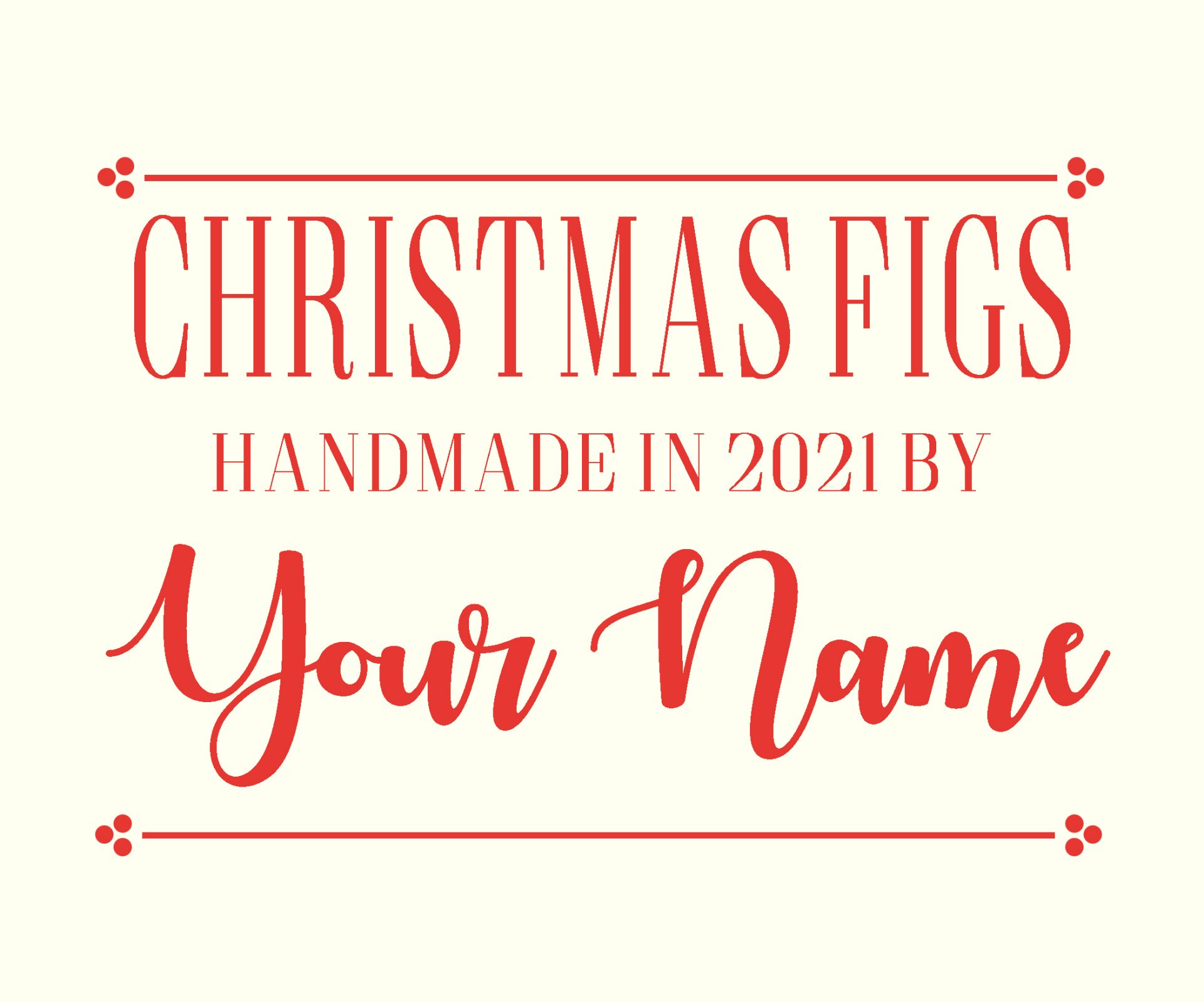 Christmas Figs II Custom Label