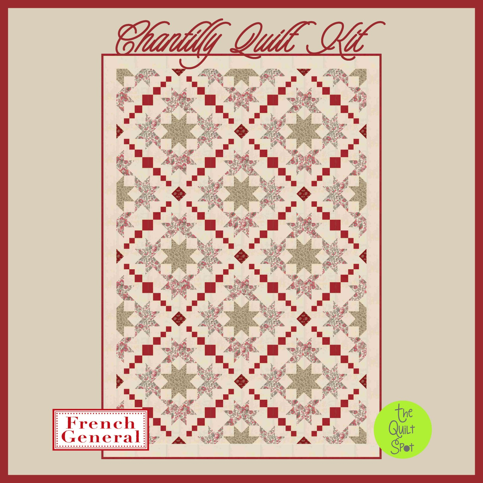 Chantilly Quilt Kit featuring French General
