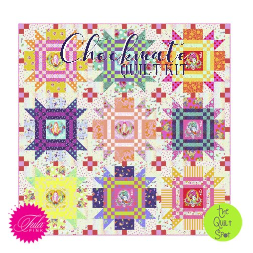 Tula Pink's Checkmate Quilt Kit featuring Curiouser & Curiouser
