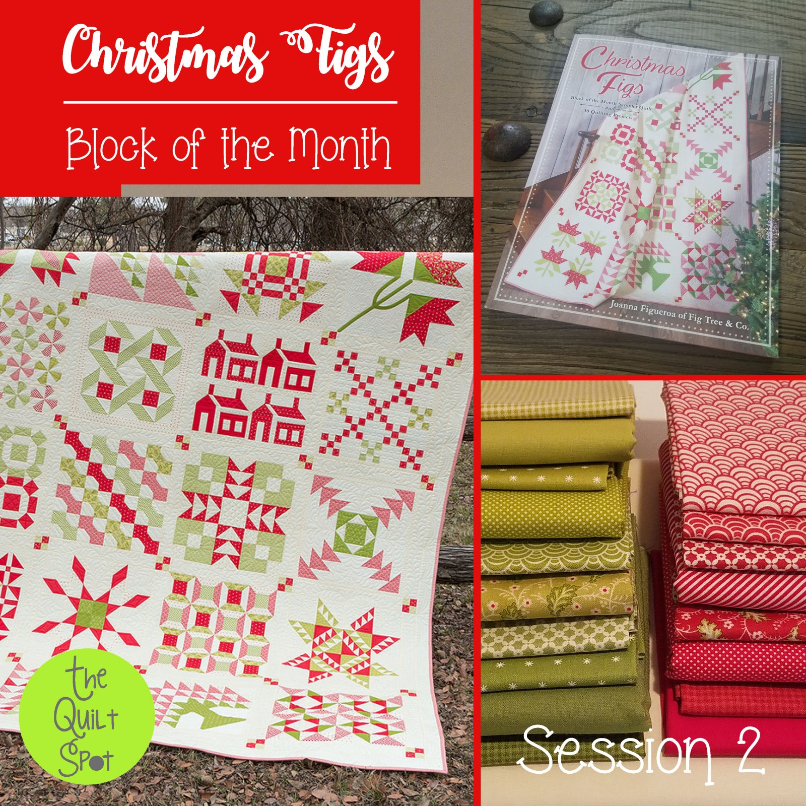 Fig Tree Christmas Block of the Month - Christmas Figs Session 2