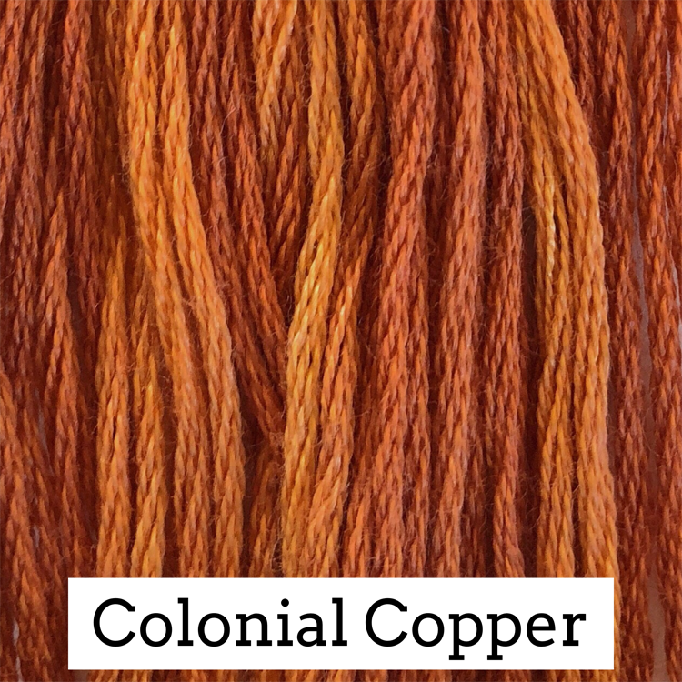 Colonial Copper Classic Colorworks 6 Strand Hand-Dyed Embroidery Floss