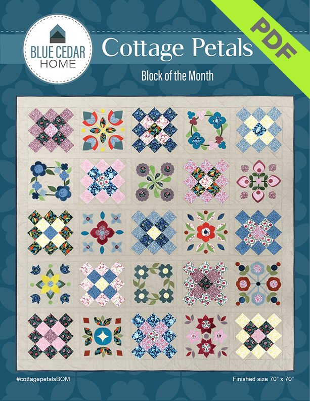 Cottage Petals Pattern Only  - Downloadable PDF