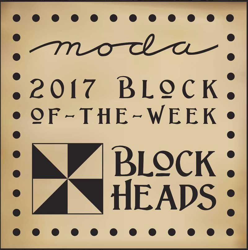 Moda Blockheads 2017 Block of the Week