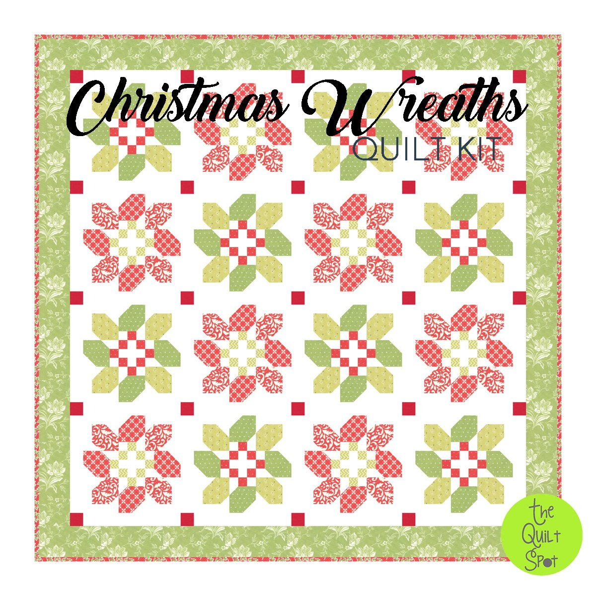 Christmas Wreaths Quilt Kit
