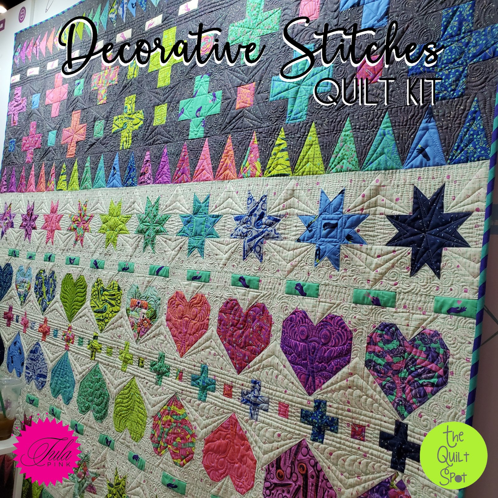 Decorative Stitches Quilt Kit - Featuring Tula Pink Homemade Fabric