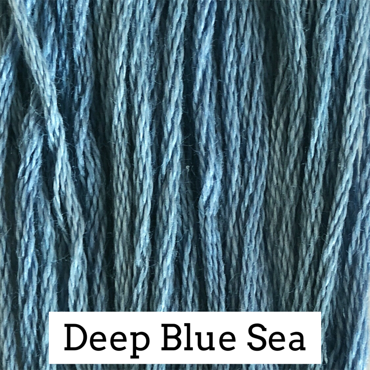 Deep Blue Sea Classic Colorworks 6 Strand Hand-Dyed Embroidery Floss
