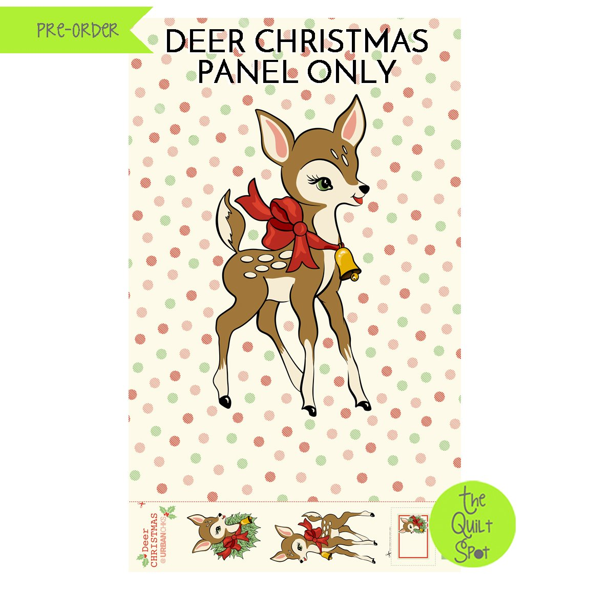 Deer Christmas Deer Panel Only