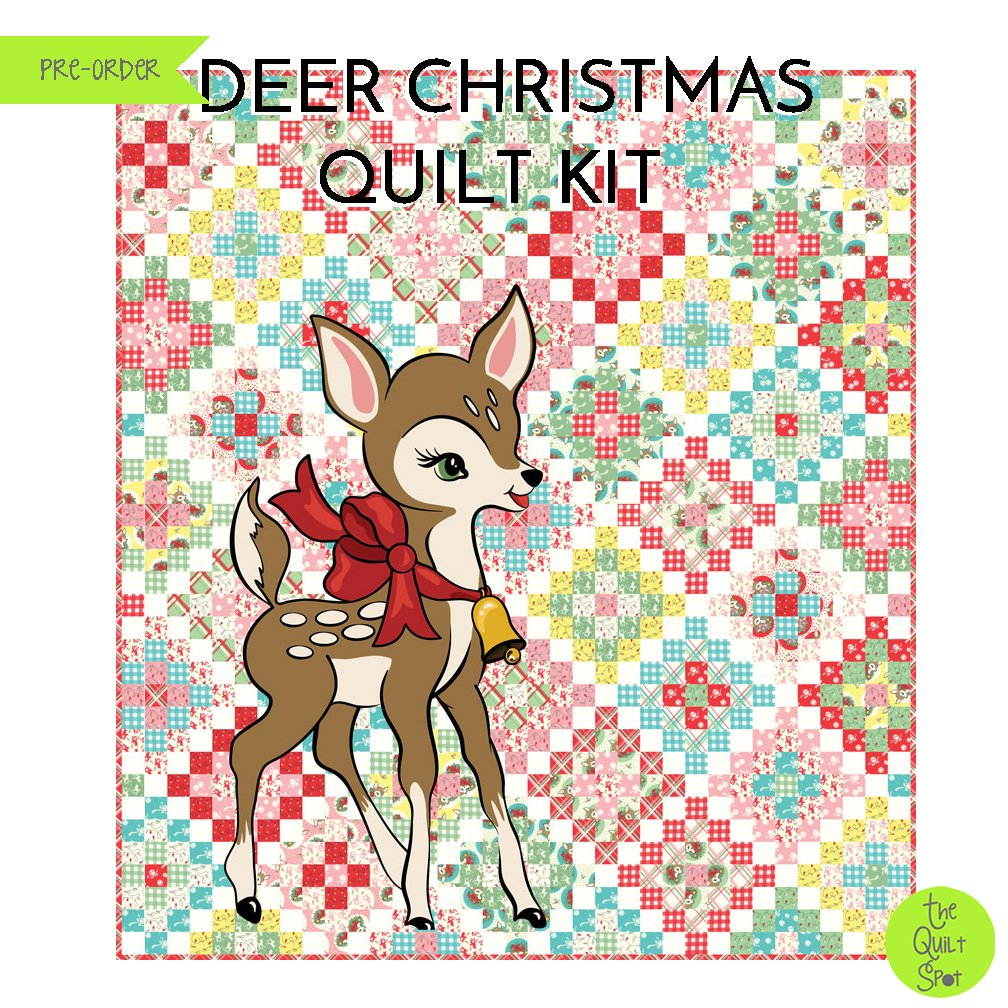 Deer Christmas Quilt Kit by Urban Chiks