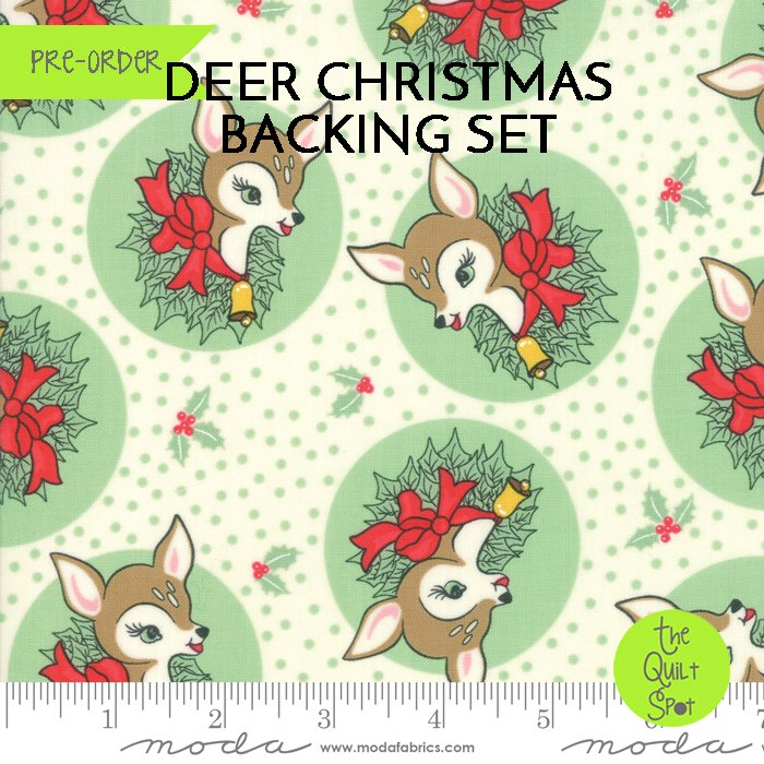 Deer Christmas Backing Set